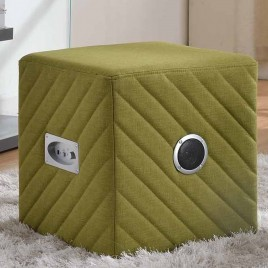 Ottoman with Bluetooth & Speaker Lemon Green Color